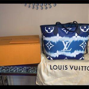 Louis Vuitton Escale Neverfull MM bleu